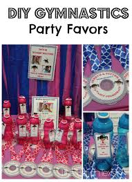 Gymnastics Birthday Party Decorations Diy Party Favors Cd Medals And Water Bottles The Bajan Texan