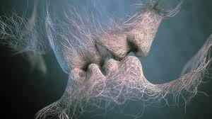 Sweet kiss - Romantic moment abstract ...