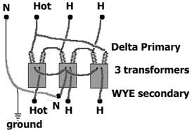 how to identify transformer wiring Transformer Primary Wiring delta primary wye secondary 1 supply wire connects to two transformers transformer primary wire size calculator