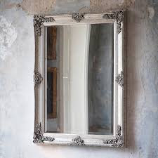 decorative bathroom mirror rectangle. French Style Antique Silver Rectangular Wall Mirror With Decorative Frame Bathroom Rectangle L
