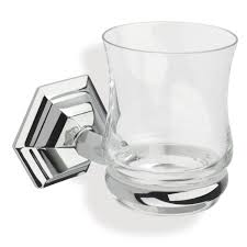 stilhaus ma10 marte high end crystal glass wall mounted toothbrush holder tumbler