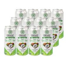 Steaz Lightly Sweetened Green Tea Lightly Sweetened Iced Green Tea With Coconut Water 12 Can S Steaz