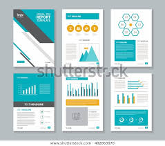Chart Page Design Page Layout Company Profile Annual Report Stock Vector