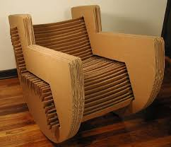cardboard furniture design. cardboard rocking chair slotted design no adhesives or fasteners furniture