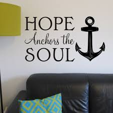 Small Picture Hope Anchors Wall Sticker Quote Wall Art Wall Decal H651K