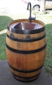 how to make wine barrel outdoor sink diy crafts handimania weddbook