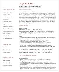 Long Term Substitute Teacher Resume Extraordinary Free Teacher Resume 48 Free Word PDF Documents Download Free