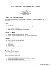 Entry Level Dental Assistant Resume No Experience Resume