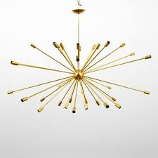 artwork by gino sarfatti large sputnik chandelier made of brass