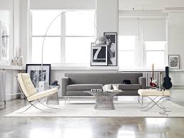 Floor Tables Theatre Sofa Shown With The Barcelona Chair And Stool Platner