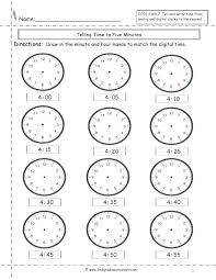 Teaching How To Tell Time Worksheets Half Digital Matching And ...