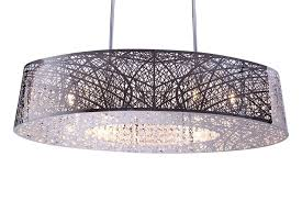 8 light inca e2131010pc oval shade bird nest chandelier pendant ceiling light fixture lamp length 32