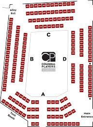 American Players Theater Seating Chart The Colonial Players Inc Seating Chart
