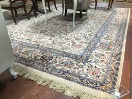 10 x 14 karastan tabriz wool rug beige