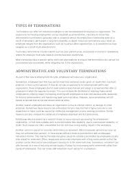 End Of Employment Letter Human Resources Insight Termination
