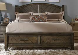 Modern Country Bedroom Buy Modern Country Queen Storage Bed By Liberty From Www