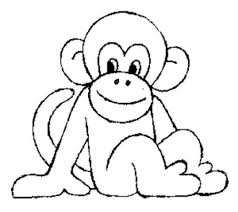 Cute Monkeys Coloring Pages Print Download Baby Monkey Luxury