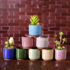 garden glazed pots ping ice flower pots succulent garden plants pot mini thumb