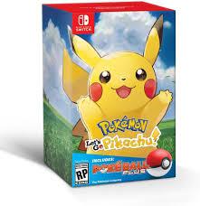 Pokemon Let's Go Pikachu + Poke Ball Plus - Switch - Game Games