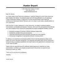 human resources cover letter exles