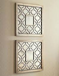 contemporary mirrored wall art home decor amazon com silver square fretwork wood mirror pair kitchen uk stickers decals set nz on wall art picture amazon uk with elegant mirrored wall art home remodel uk stickers decor decals set