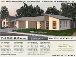 spectacular large duplex house plans 6