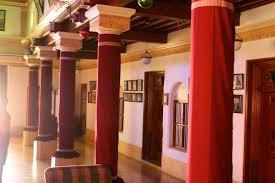 Tamilnadu Traditional House Designs Inner Courtyard Of A Chettinad Mansion Tamil Nadu India