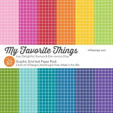 Graphic Grid Paper Pack 6x6