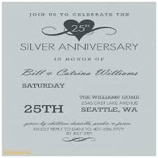 silver anniversary invitation cards mind 25th wedding