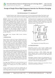 High Frequency Circuit Design Pdf Pdf Design Of Single Phase High Frequency Inverter For