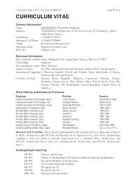 Typical Resume Format Fascinating Example Of The Resume Example Of Best Resume Resume Format Example