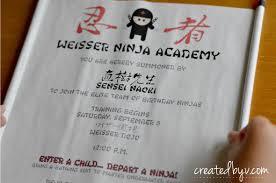 Scroll Birthday Invitations Ninja Scroll Invitation Created By V