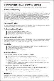 Sample Communications Resume Resume Web