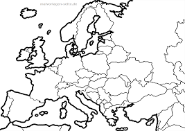Kaart Europa Europese Unie Gratis Kleurpaginas Om Te Downloaden