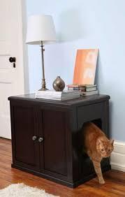 Accessories: Modern Cat Litter Box Cabinet - Cat Box