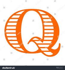 letter Q orange color logo vector design template elements for your  application or company identity.