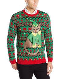 Blizzard Bay Men\u0027s Grumpy Elf Cat Ugly Christmas Sweater 13 Sweaters Every Feline Lover Needs