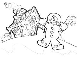 Online Coloring Pages Coloring Page Gingerbread House And