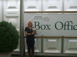 outside the box office. Here\u0027s The Author With Barefoot Outside Box Office At 2012 Hay Literary Festival