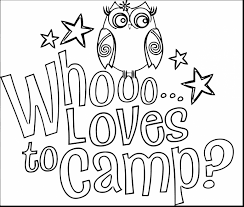 Brownie Girl Scout Coloring Pages Incredible Clip Art With Camping