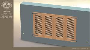 Timberlane Shutters BiFold Exterior Shutters YouTube - Shutters window exterior