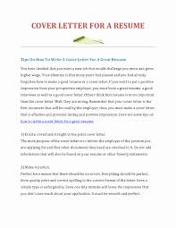 How To Create A Good Resume How to Create A Cover Letter for A Resume Luxury What is A Cover 61