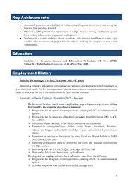 ssis sample resume