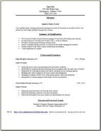 Analyst Resume Analyst Resume2 Analyst Resume3