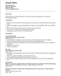 Bilingual Recruiter Resume Fair Executive Recruiter Resume Template