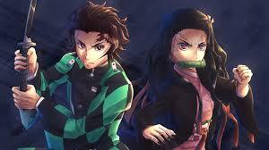 2560x1440 Nezuko Kamado And Tanjirou Kamado 1440p Resolution