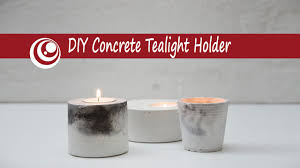 Craft Projects Using The T Light Candles Diy Concrete Cement Tealight Holder