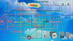 how to work a star delta starter with control wiring and connection diagram animation video you