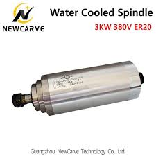 2019 4 Bearing 3KW Water Cooled Spindle Motor 380V <b>100MM</b> ...