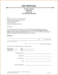 Contractor Bid Template Form Proposal For Construction Sample